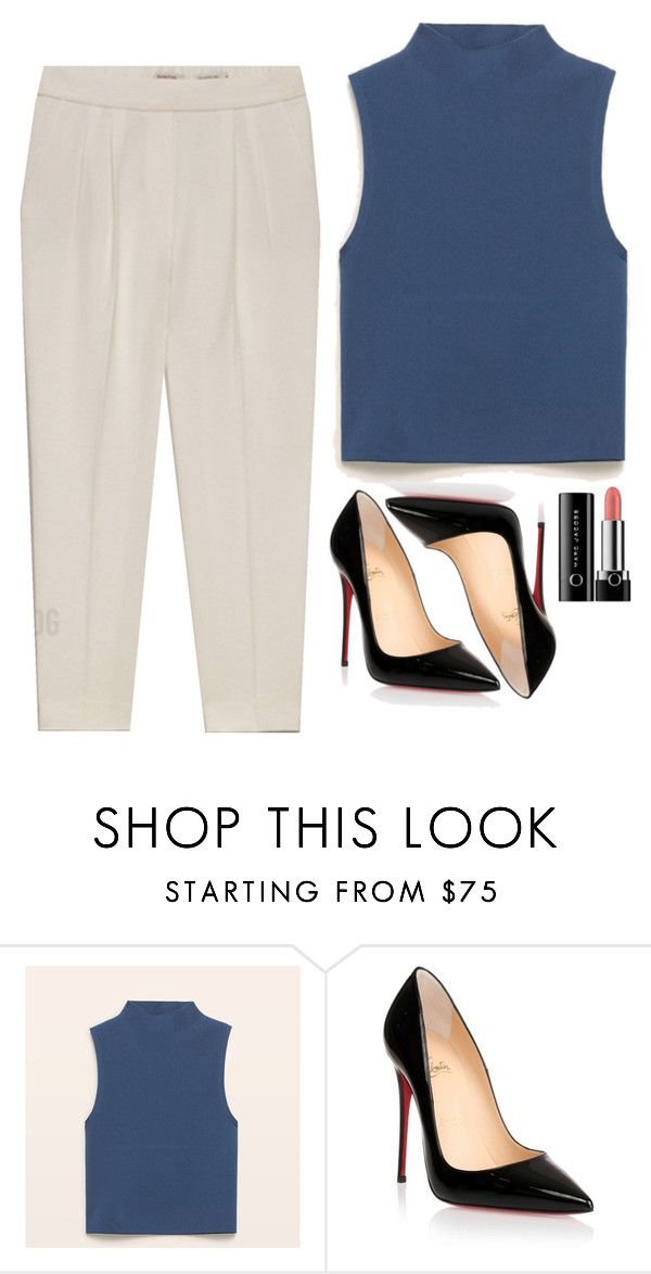 """Thea Queen Inspired Outfit"" by daniellakresovic ❤ liked on Polyvore featuring Christian Louboutin and Marc Jacobs"