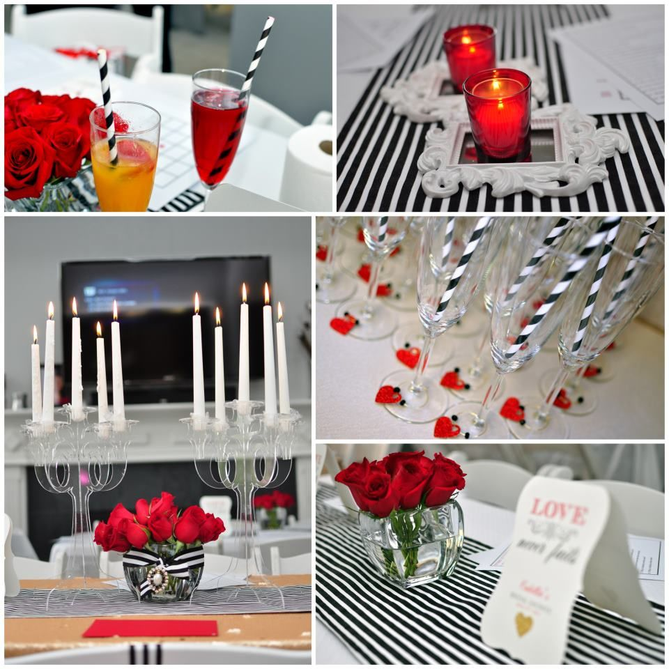 Red Black And White Bridal Shower Decorations  from i.pinimg.com