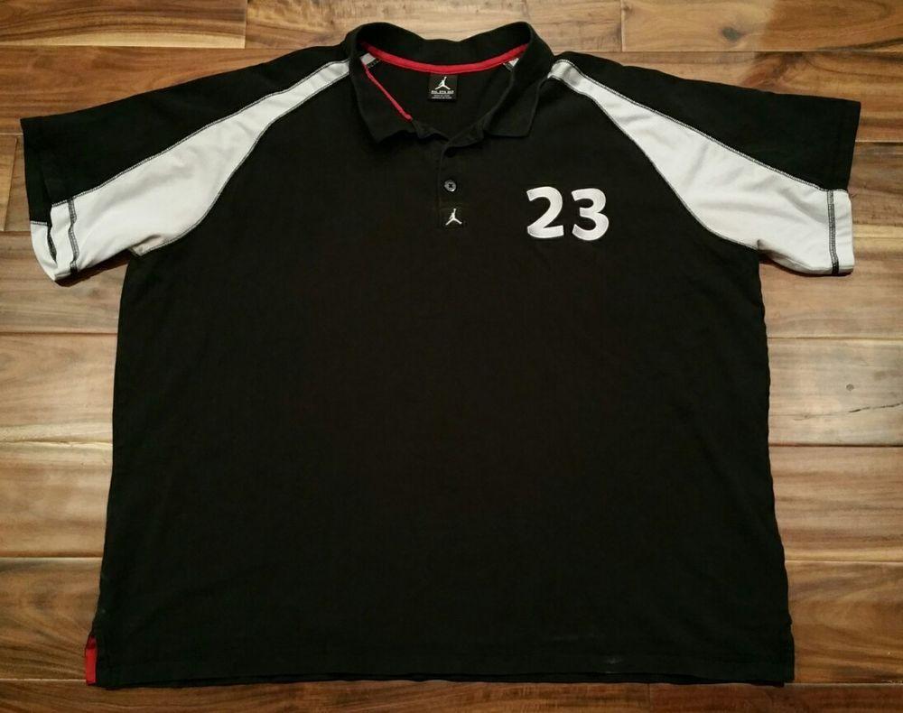 a7b8d067e21 Nike Air Jordan Jumpman Signature 23 Black Polo Shirt Men 3XL XXXL Golf  Michael #Jordan #PoloRugby