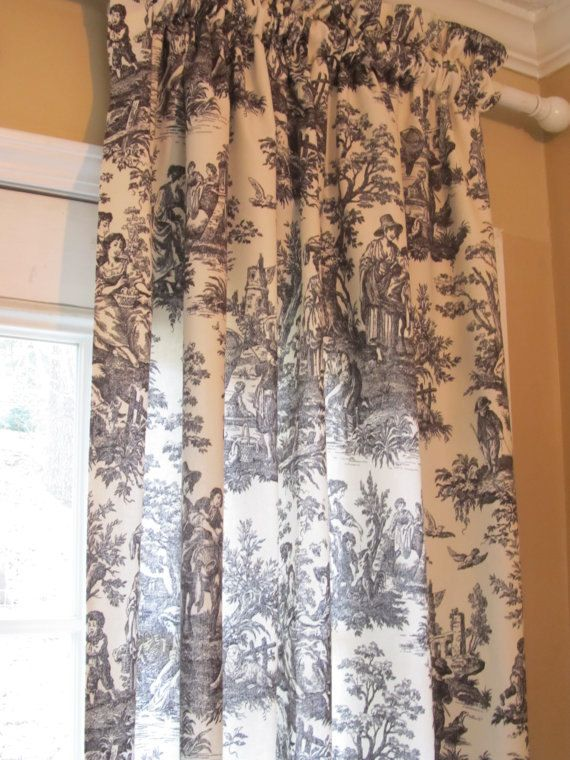 Black And White Toile Country French