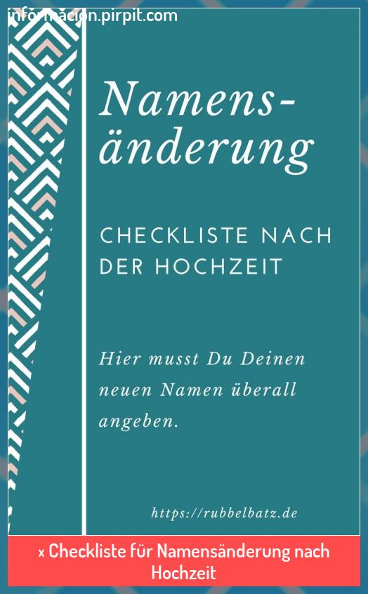 Checkliste Fur Namensanderung Nach Hochzeit Bodas Checkliste Fur Hochze Wedding Planning Checklist Detailed Name Change Checklist Wedding Planning Quotes