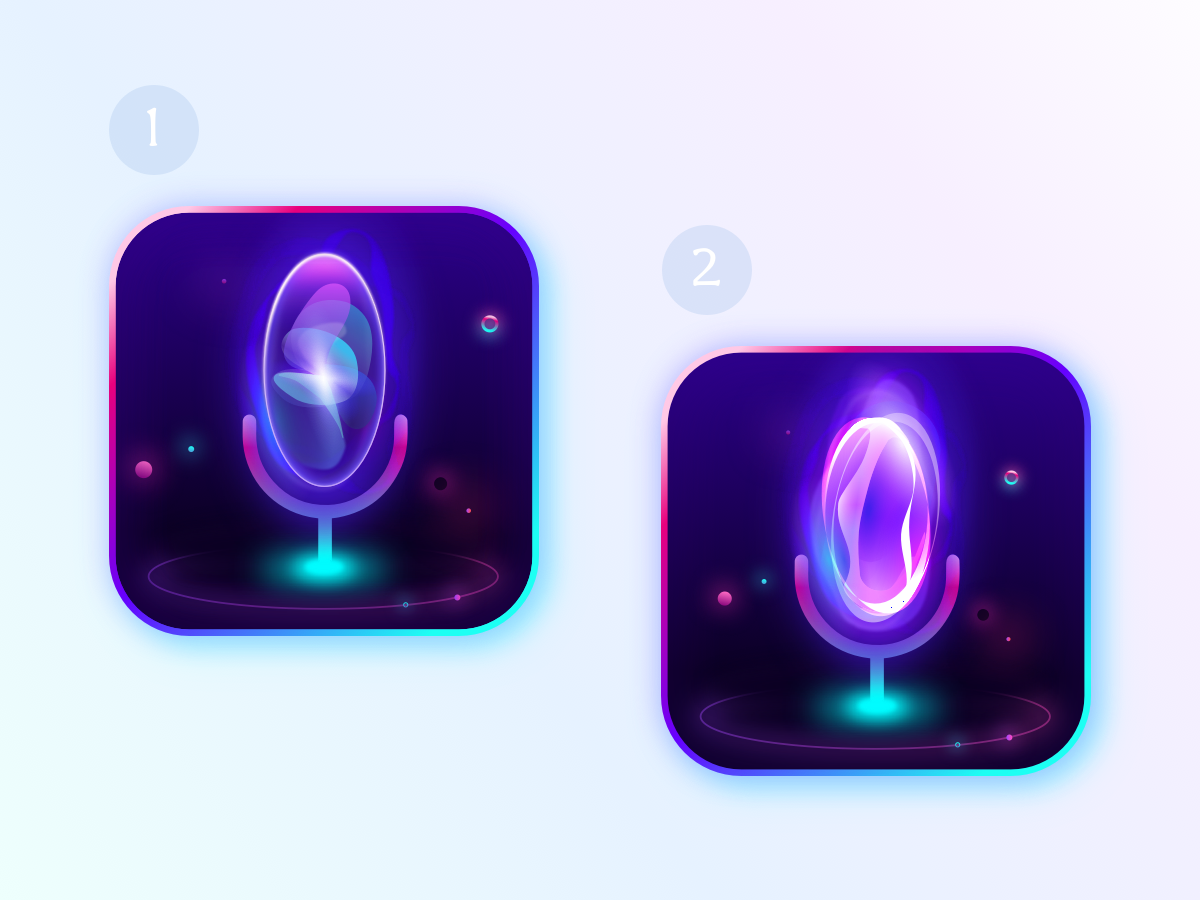 Ai Voice Assistant App Icon Concept By Anthony Daou App Icon Concept The Voice