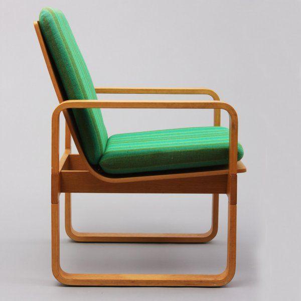 Magnus Olesen;Oak Plywood Armchair for Durup, 1960s.