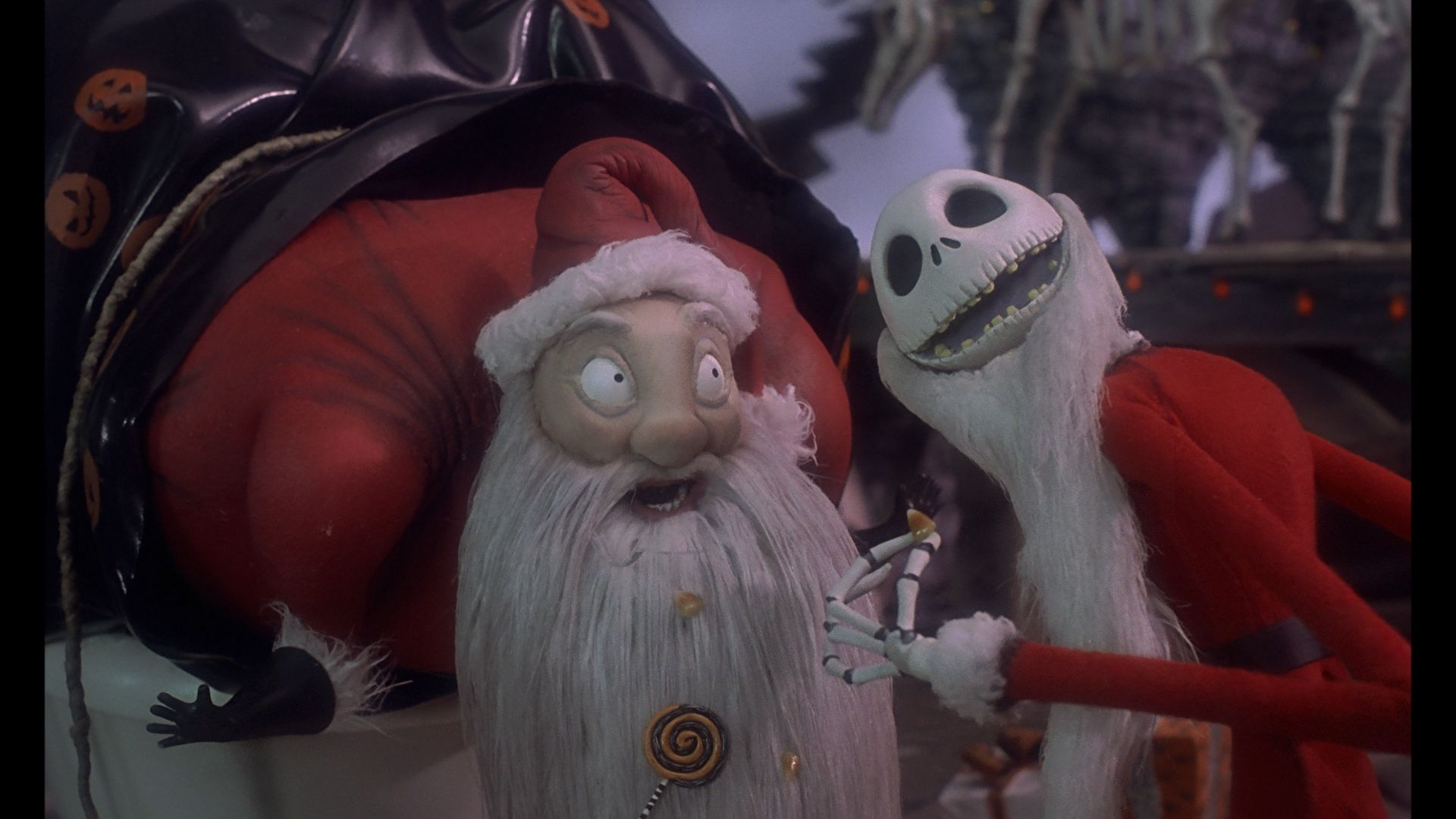 Sandy Claws(Santa Claus) and Jack Skellington in Night before ...