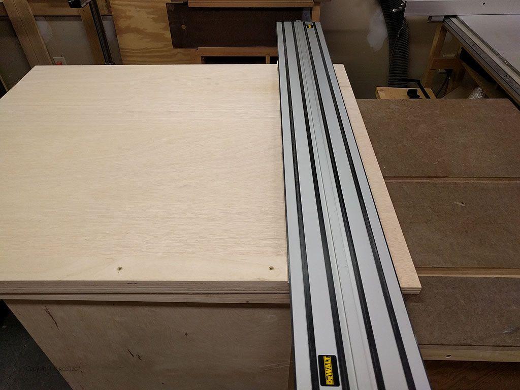 Dewalt Track Saw Crosscut Table Woodbin In 2020 Dewalt Saw Home Improvement