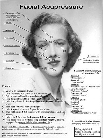 Natural anti-aging!!! Though acupressure you can release ...