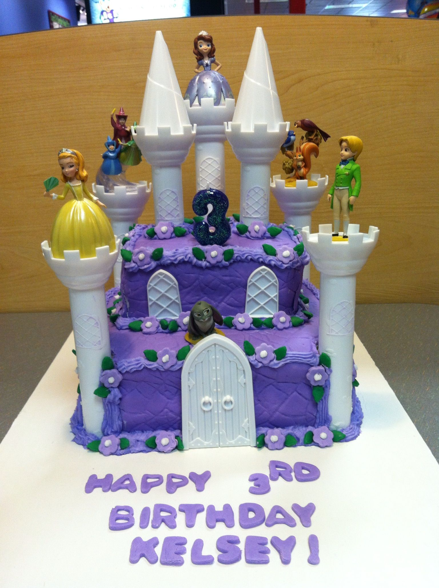 sophia the first castle cake! kelsey's 3rd birthday! madeher
