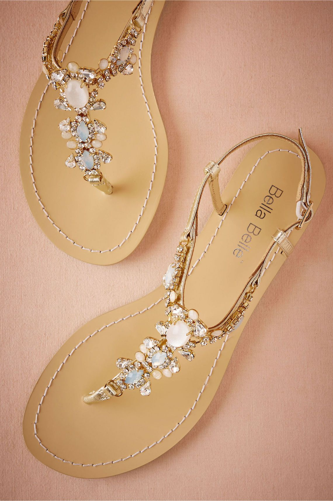 Flat rhinestone sandals for wedding - Think Flat Wedding Shoes Are Not As Elegant As Heels We Ve Rounded Up