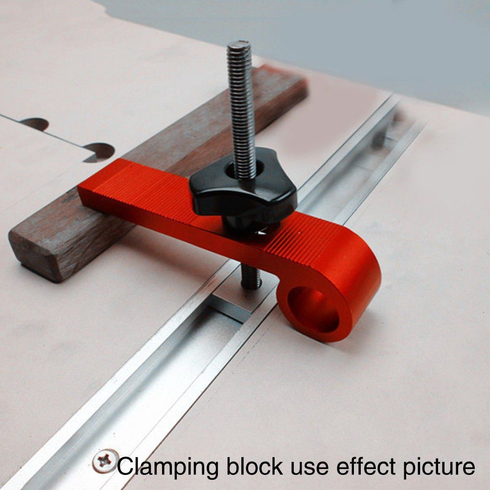 4 Pcs Universal Clamping Blocks M8 Screw Set Clamps Woodworking Joint Hand Tool