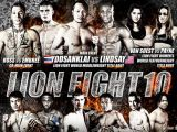 Lion Fight 10 Pro Card Poster