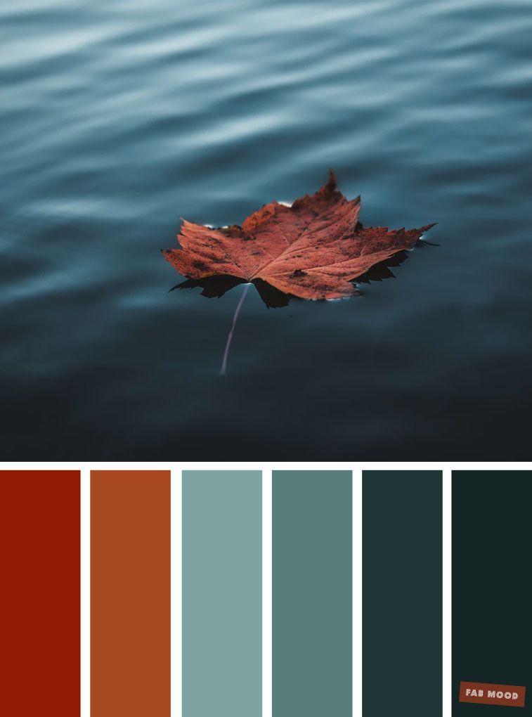 59 Pretty Autumn Color Schemes { Brown + Deep Ocean }