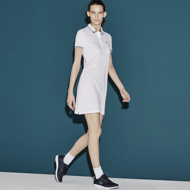 54059bbb6 Women's SPORT Stretch Mini Piqué Polo Dress | golf | Lacoste sport ...