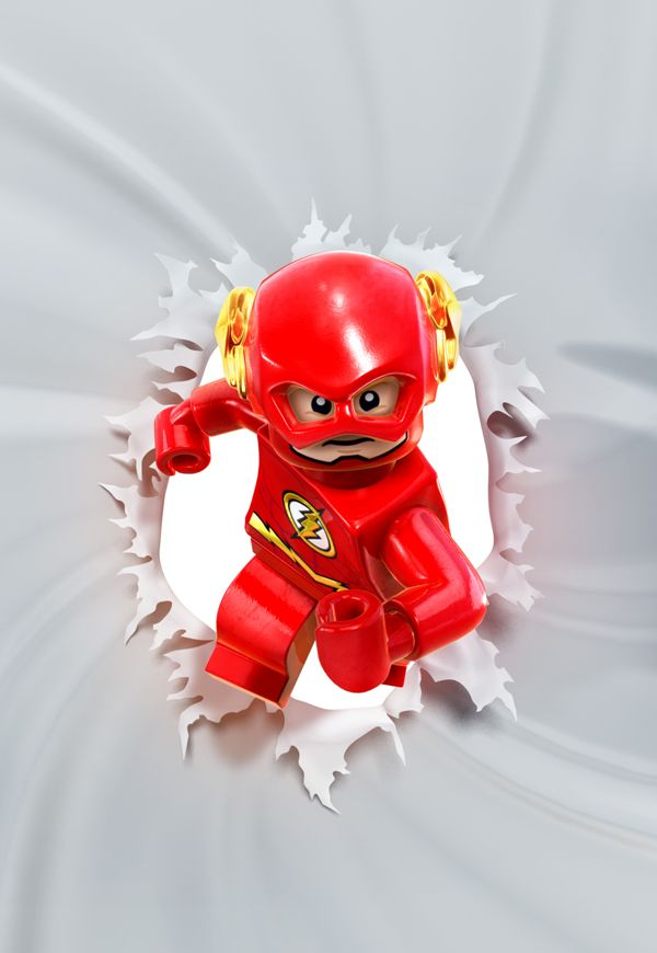 sh473 NEW LEGO The Flash Gold Outlines on Chest FROM SET 76098 JUSTICE LEAGUE