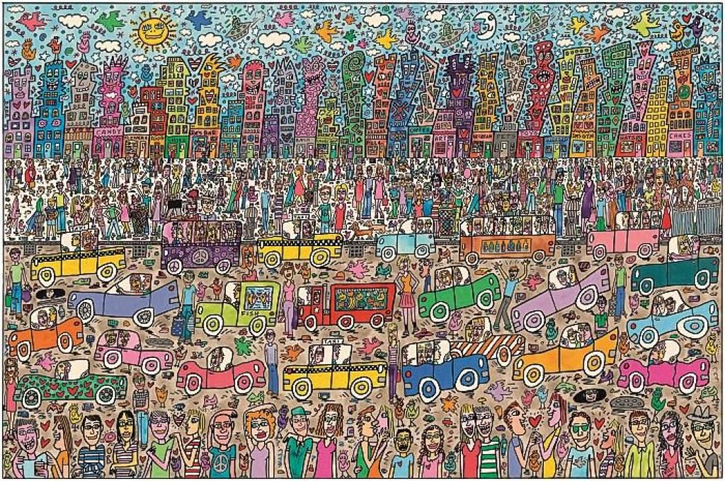 NOTHING IS AS PRETTY AS A RIZZI CITY  No. of pieces: 5000 Size: 153 x 101 Artist: James Rizzi