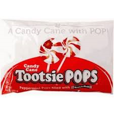 Tootsie Roll Candy Cane Pops 15 Count Bag Christmas Candy Tootsie Pop Peppermint Candy Candy Cane