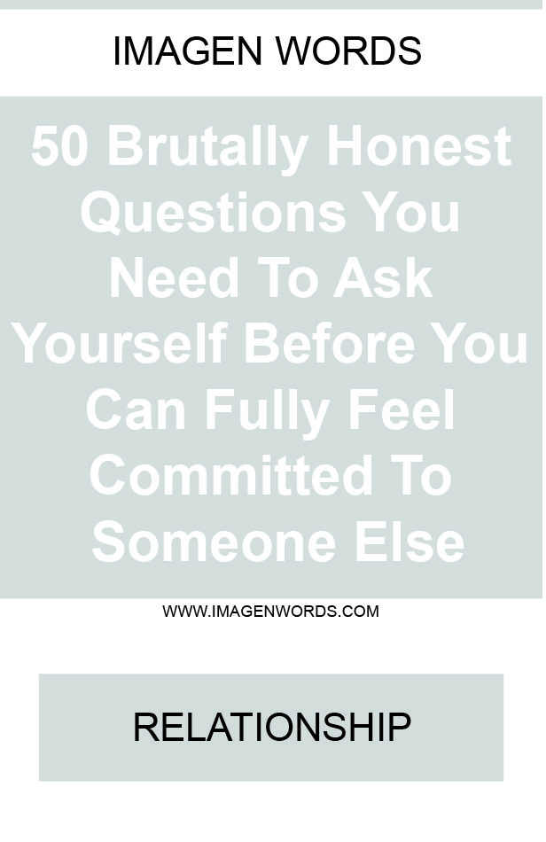 Questions to ask yourself before dating