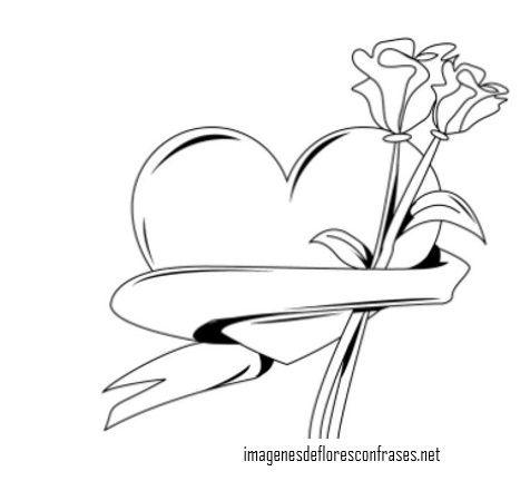 Imagenes De Corazones Con Flores Para Dibujar Dibujos De Corazones Corazones Para Dibujar Dibujos Para Colorear