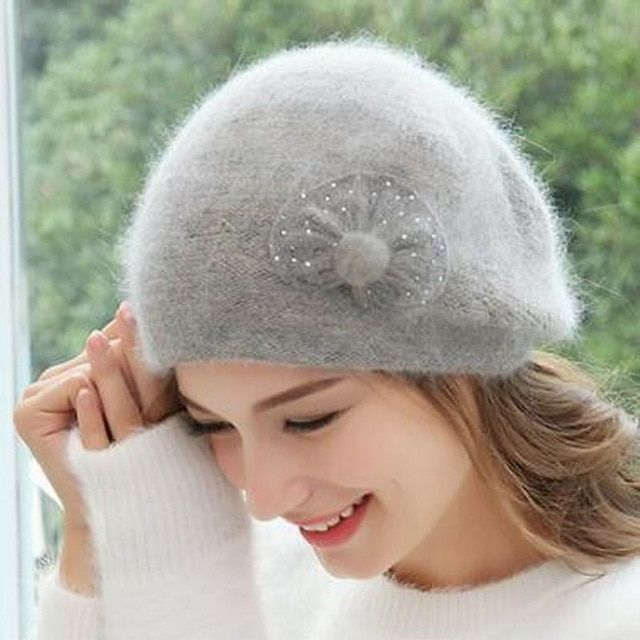 8ec6438ad27 Autumn Women Beanie Hats Female 2018 New Winter Knitted Slouchy Caps Wool  Warm Beanies For Girl