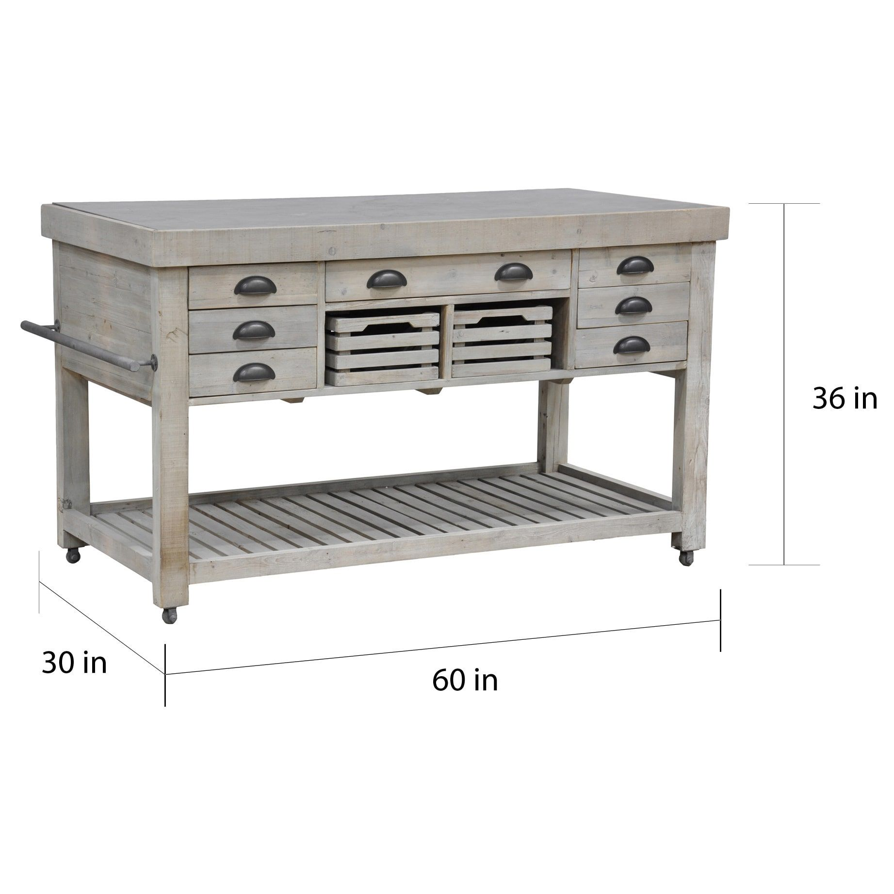 Avery Wood And Stone Inch Kitchen Island By Kosas Home - Overstock kitchen island