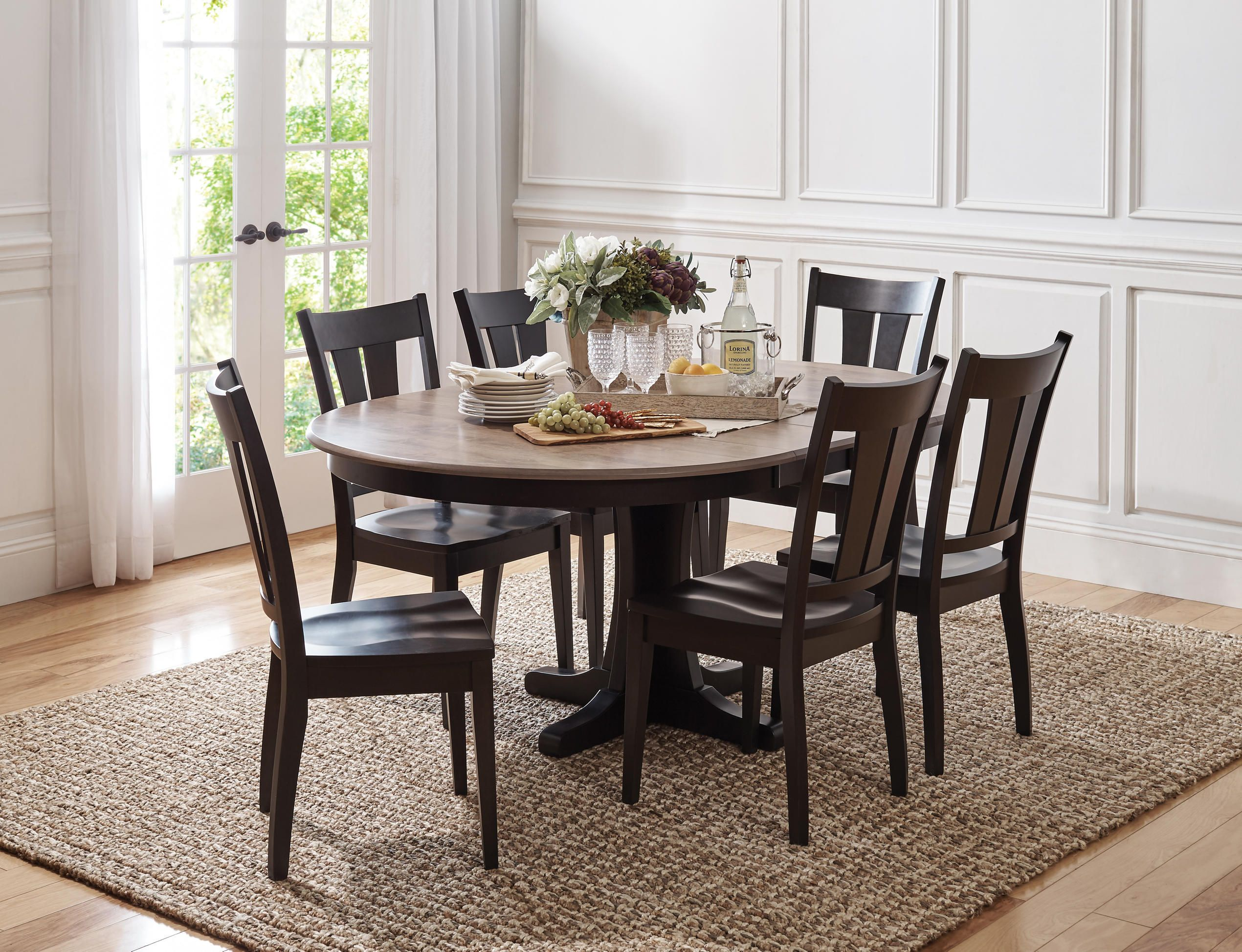 Made In The USA Of Solid Maple This Beautiful Sterling Dining Collection Set Is