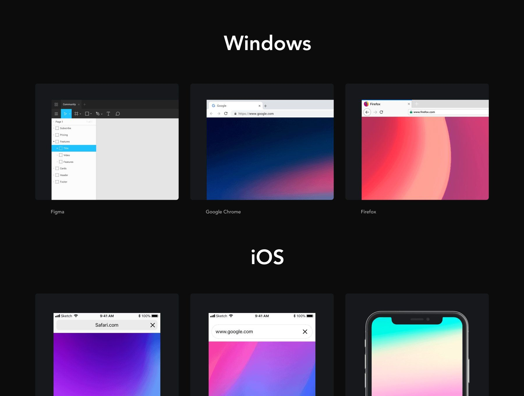 Download Frrames Vector Window Mockups Free Business Card Templates Create Digital Product Responsive Design