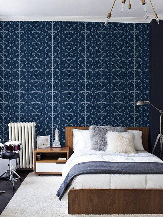 Selfadhesive Peel and stick vinyl wallpaper Leaf pattern