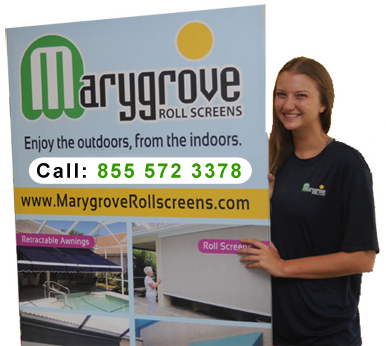 Marygrove Roll Screens Remote Control Motorized Retractable Roll Screens Retractable Awning Florida Home Remote Control