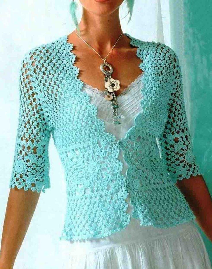 Chaquetas de mujer tejidas a crochet
