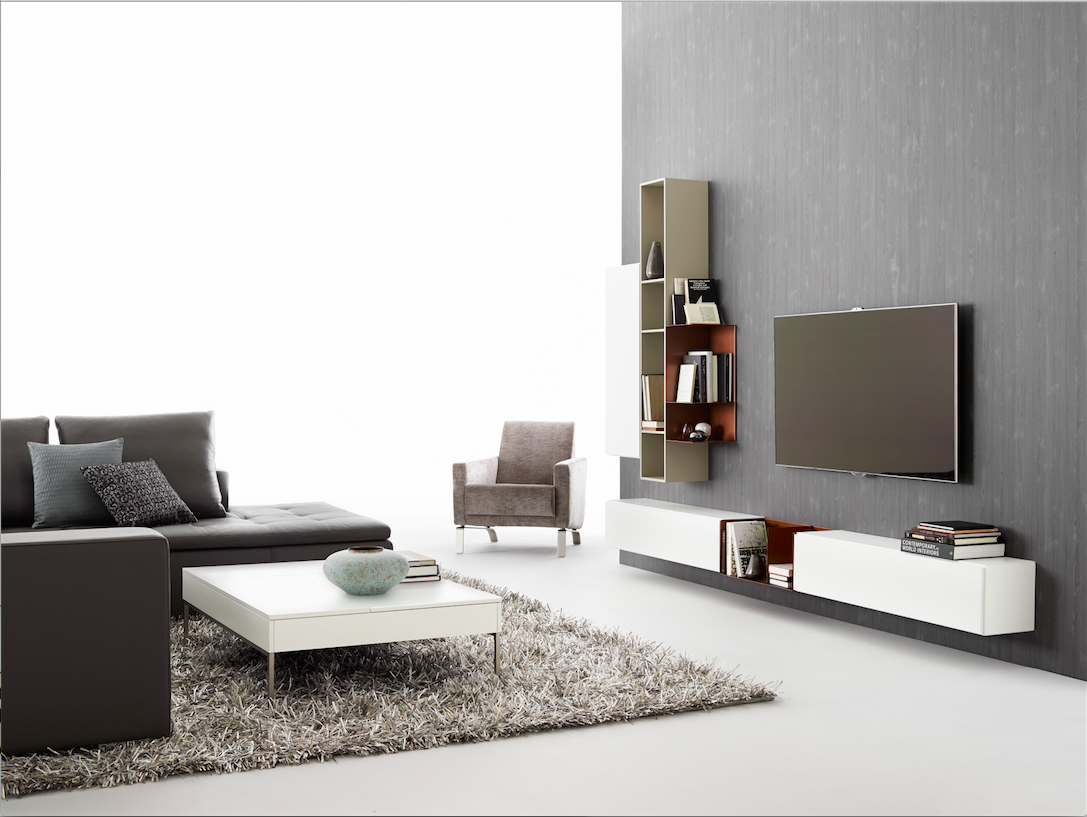 Lugano Wall Mounted Wall System 3439 Storage With Style