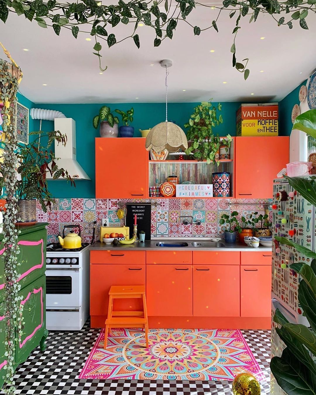 hippie tribe on instagram the most colorful kitchen by colorful kimmes bohemian on kitchen decor hippie id=44718