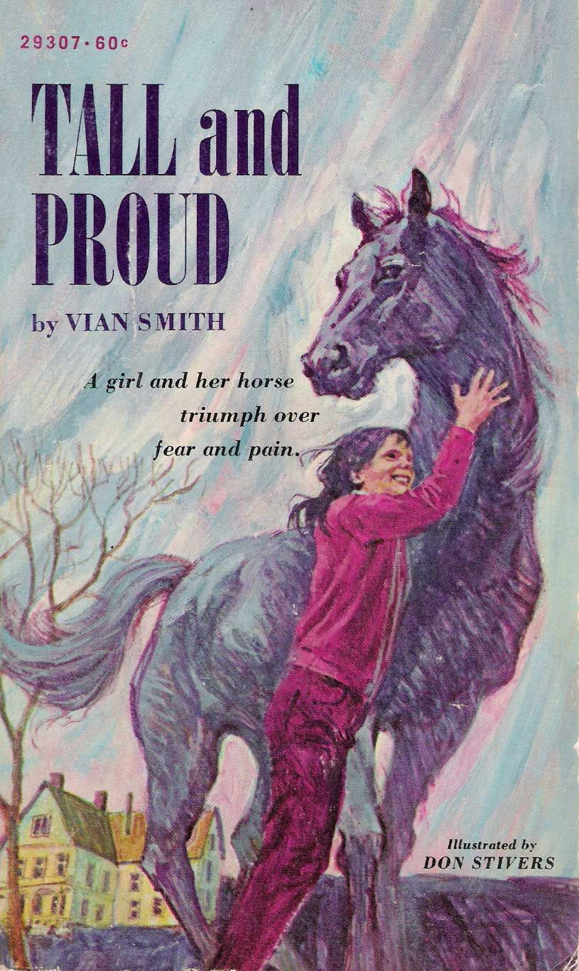"""Tall and Proud by Vian Smith. Girl recuperates from polio along with underdog horse. Memorable detail: the heroine plays w/ her dolls pretending they're the Beatles. She rescues Ringo first """"because he's the most important"""" (!)"""