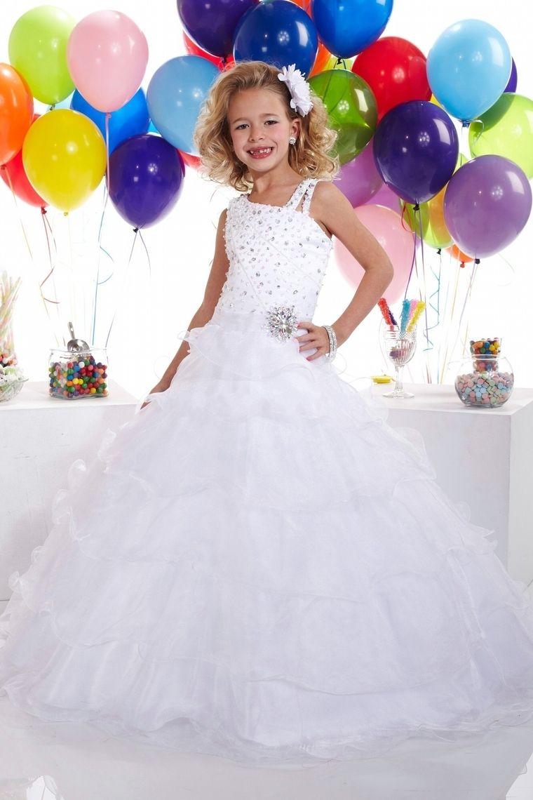 Wedding dresses for big women  NewArrivalFlowerGirlDressesALineStrapsFloorLengthOrganza