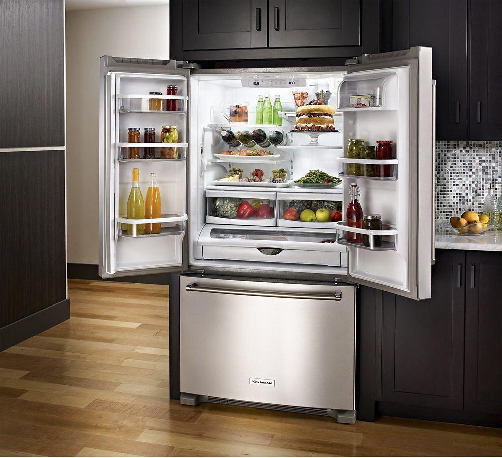 Kitchenaid 221 cu ft bottomfreezer refrigerator