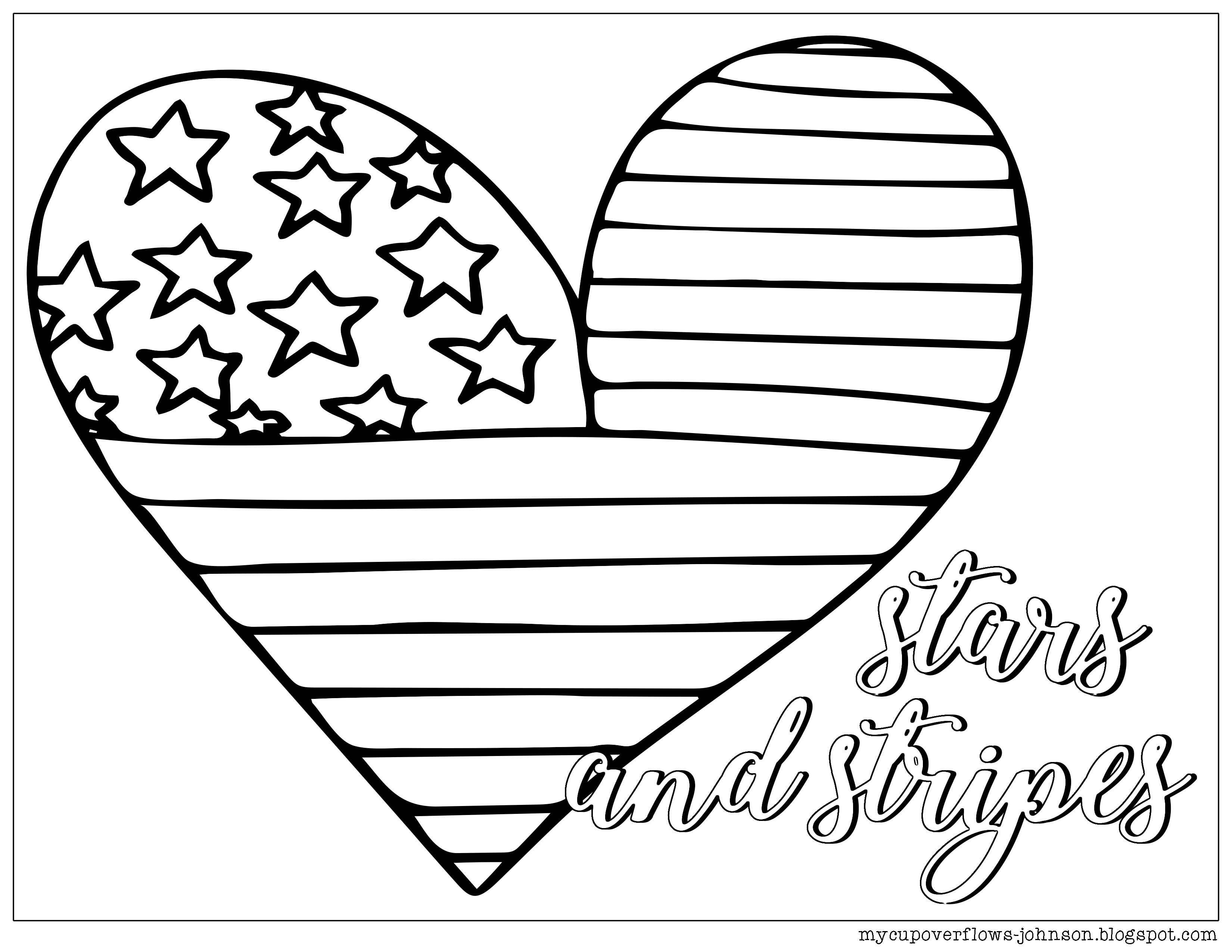 Coloring Pages For The 4th Of July Coloring Pages Heart Coloring Pages Memorial Day Coloring Pages