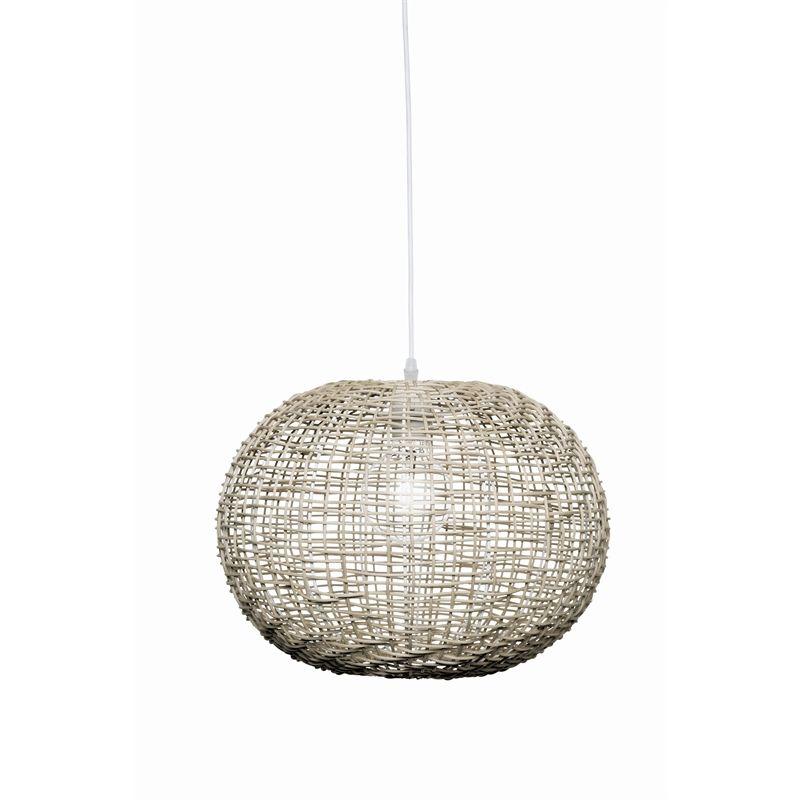 13 Brilliant Kitchen Lighting Ideas: Brilliant 30cm 60W Panama Grey Pendant Light