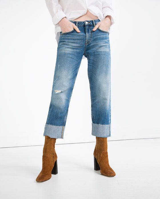 df7d83bbd2 Image 2 of BOYFIT SELVEDGE JEANS from Zara | Fashion | Jeans, Zara ...