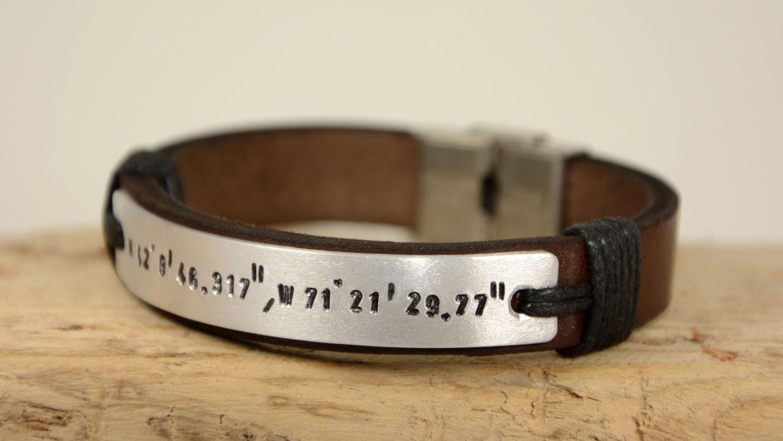 FAST SHIPPING Mens Leather Bracelet Mens Coordinate Bracelet