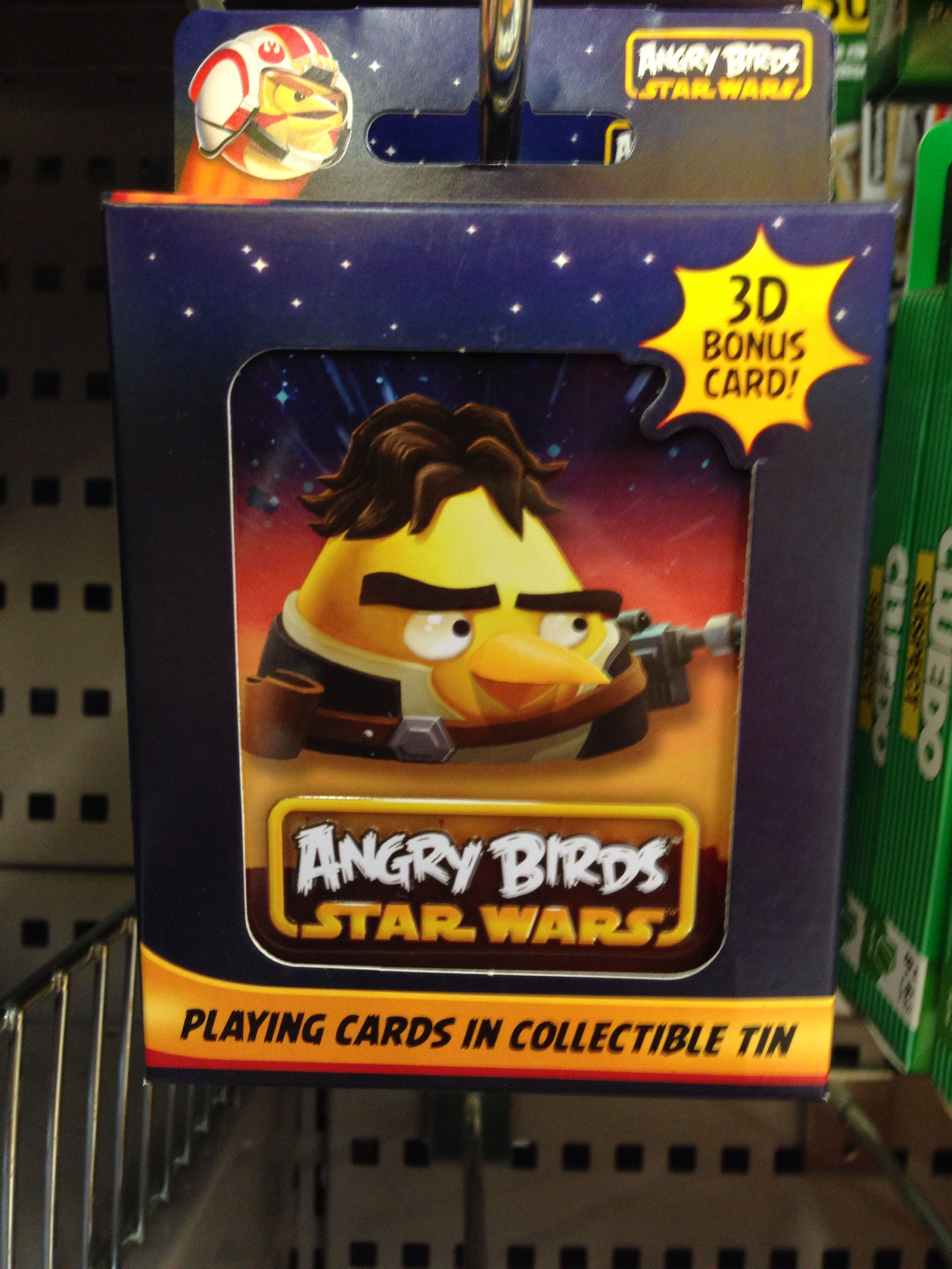 Angry Birds playing cards in collectible tin