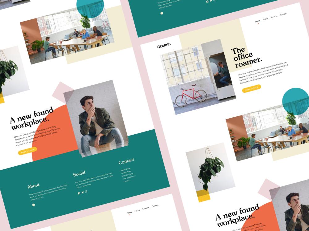 Desana Website In 2020 Website Design Dribbble Show And Tell