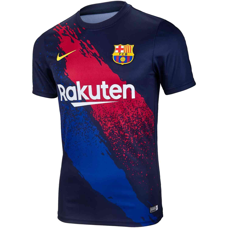 abdomen Karu discordia  Nike Barcelona Pre-match Top - Obsidian/Varsity Maize - SoccerPro |  Barcelona jerseys, Football shirt designs, Barcelona shirt