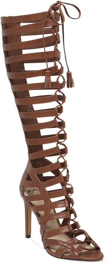 00cabfc90ff Vince Camuto Olivian Tall Lace-Up Gladiator Sandals on shopstyle.com ...