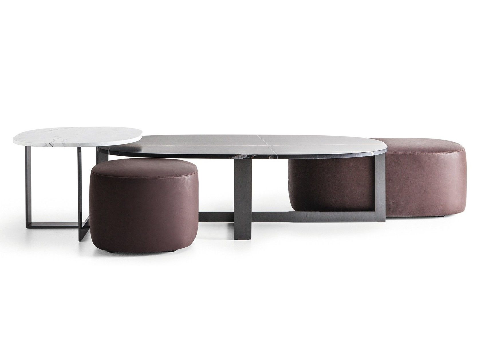 Upholstered Leather Pouf Domino Next Pouf By Molteni C Ottoman Coffee Table Table Lamp Design Coffe Table [ jpg ]