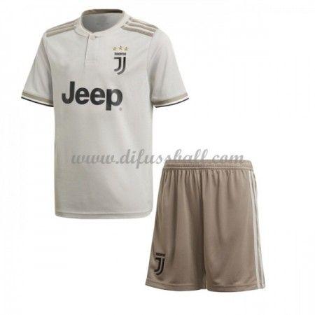 Juventus Fußballtrikots Kinder 2018 19 Auswärts Trikotsatz