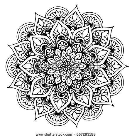 Photo of Mandalas zum Ausmalen eines Buches. Dekorative runde Ornamente. Ungewöhnliche B…