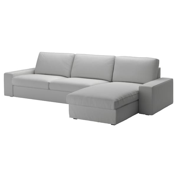 KIVIK Sofá 4 plazas Orrsta +chaiselongue, Orrsta gris