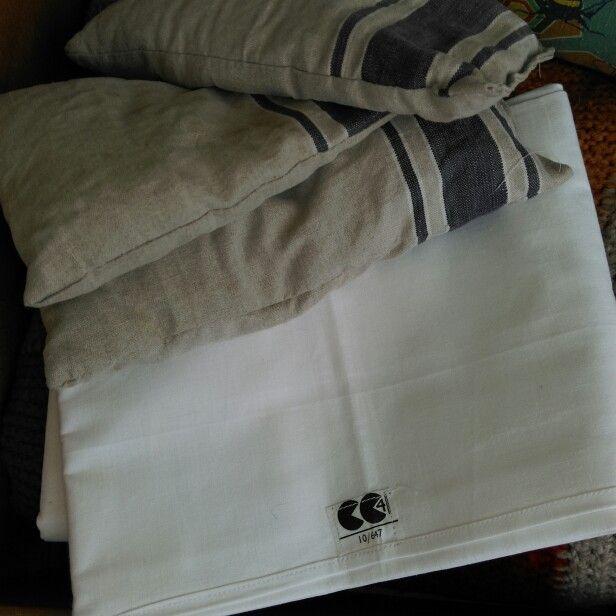 Utility Scheme pillowcases at Homeward. Such a great logo.