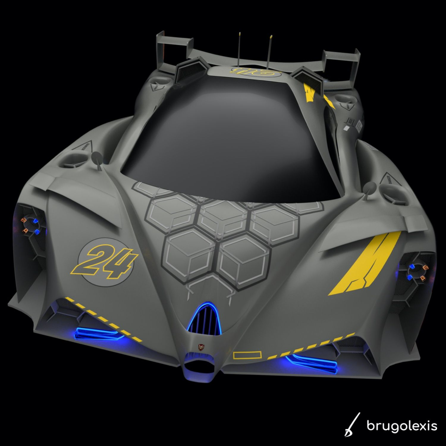 New designs to come BONUS 3/3 Having some fun to mix military aircraft style and flying racing concept car using #affinitydesigner to create the decorative textures and #blendercycles for the final 3D render . . . #conceptcar #supercar #hypercar #racingcar #flyingcar #flyingcars #cardesigncommunity #militaryaviation #aircrafts #plane #blender #blender3d #blendercommunity #3d #cgi #madeinaffinity #carlifestyle #futuristiccars #sportscar #drawtodrive #airroad #vehicledesign #creative #carpassion
