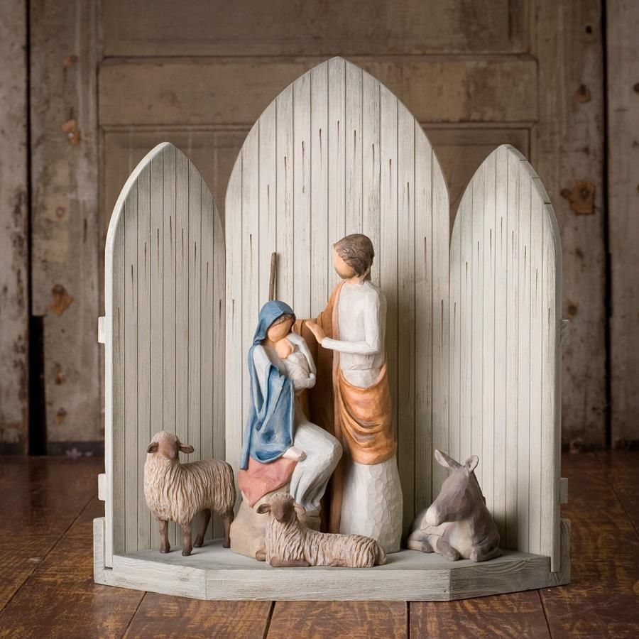 Story Behind Christmas Tree: The Christmas Story - Willow Tree Nativity Set