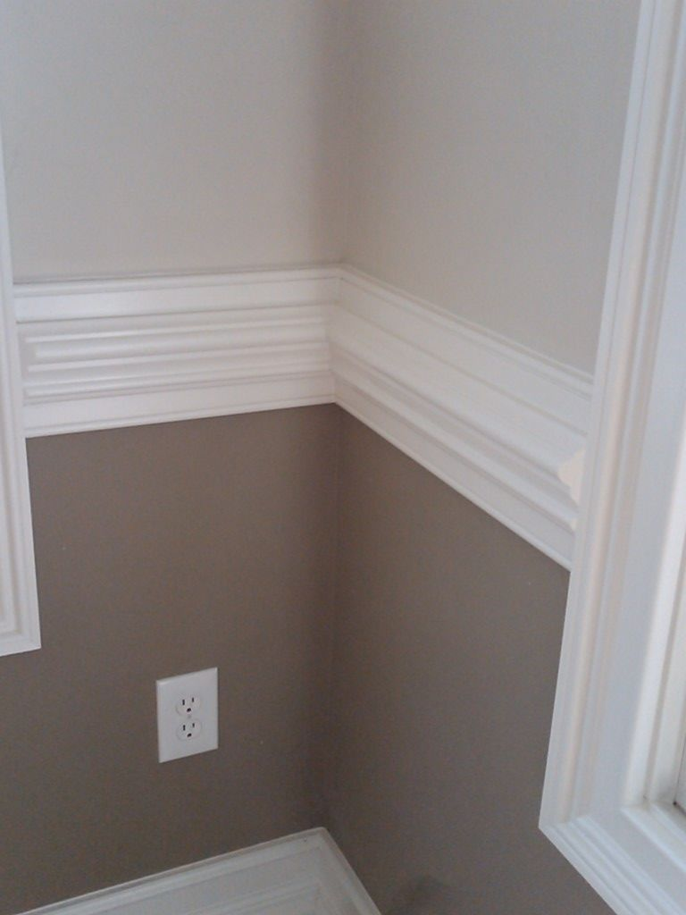 Wood Chair Rail Ideas Part - 49: Chair Rail Separates Darker U0026 Lighter Paint. Thinking Of Doing This In The  Dining Room