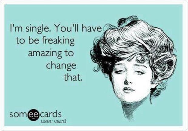 Funny single girl